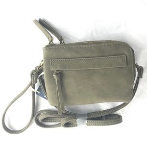 Olive Faux Leather Small Crossbody Bag